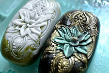 LOTUS INDIAN STYLE  - SILICONE SOAP MOLD MOULD PLASTER CANDLE CLAY WAX