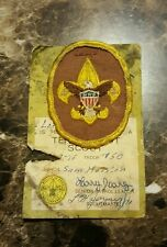 Boy Scout Patch Insignia Badge TENDERFOOT SAM HOUSTON AREA COUNC BSA OA Vintage