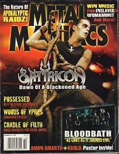 Metal Maniacs December 2008 Satyricon, Cradle Of Filth GD 100516DBE