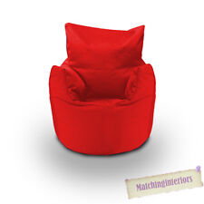 Red Cotton Children's Kids Toddlers Filled Beanchair Bean Bag Chair with Beans