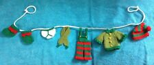 KNITTING PATTERN - Cute Christmas Elf washing line garland novelty decoration