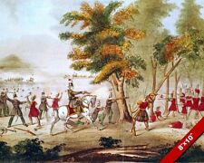 BATTLE OF THE THAMES SHAWNEE TECUMSEH PAINTING WAR OF 1812 ART REAL CANVAS PRINT