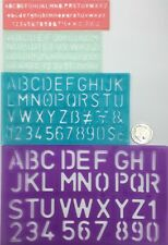 4 Sizes Stencil Number & Letter Template Set Oz Stock Free Shipping
