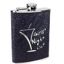 8oz Stainless Steel Black Girls Night Out Hip Flask Excellent Quality New Boxed