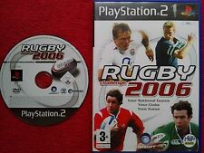 RUGBY CHALLENGE 2006  DISC & CASE ORIGINAL BLACK LABEL PS2 PAL