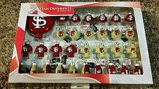Florida State Seminoles Football Christmas Team Ornaments Blown Glass 31 Pack
