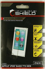 2 Packages ZAGG Invisible SHIELD iPod NANO 7 GEN SCREEN PROTECTORS SCRATCH PROOF