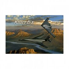 Killer B's Military Planes Airplanes Aviation Pilot Flying Metal Sign