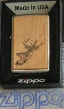 ZIPPO  ROSEART Lighter  ANTLERED BUCK  Chestnut  Forest  Treasure  MIB