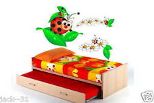 Wall sticker 8x -  kid nursery daycare Room deco decor -  FUNNY ladybug