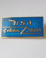 BSA GOLDEN FLASH ENAMEL LAPEL PIN BADGE