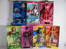 Super Hero Barbie WonderWoman Batgirl Catwoman Poison Ivy Elektra Invisible Lot7