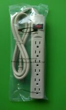 (NEW) All Systems Broadband 6-Outlet Surge Protector w/ 4ft Power Cord - BEIGE