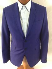 "Paul Smith London ""The Kensingston"" Purple Wool Blend 2-BT Suit 40R/W36 EU 50R."