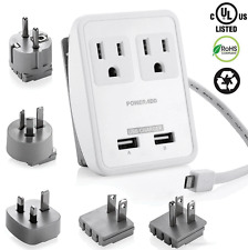 Dual USB UK/US/AU/EU/JP Universal Travel AC Power Charger Adapter Plug Converter