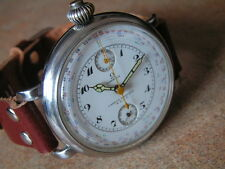 Oversize OMEGA Wrist Watch Chronograph, Cal. 39 CHRO, Cadran Dial, S/S Case 1930