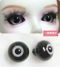 14mm  For BJD DOD AOD MK OK RD Doll Dollfie Glass Eyes Outfit Grey Black