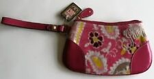 Juicy Couture Girls/Womens Pink Velour Clutch Wrist Bag YSRUS620 NWT