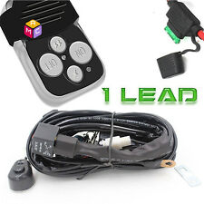 40A 12V Wiring Harness Kit Strobe Remote Control Switch For LED Light Bar 1 Lead