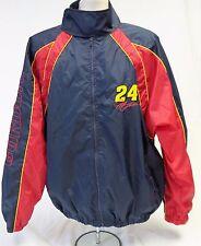 JEFF GORDON #24 NASCAR Windbreaker Jacket Coat RED / DK BLUE Size LARGE