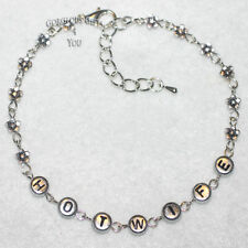 Sexy Hotwife Beaded Daisy Chain Flower Anklet / Ankle Bracelet Saucy Fun Gift