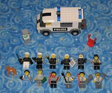 Lego City Police and Criminals Lot of 12 Individual Minifigures with Extras