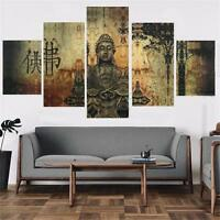Large Buddha Canvas Print Wall Art Ethnic Home Decor Hanging Buddhist Picture