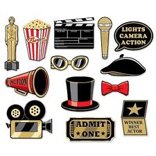 GLITTERED PHOTO BOOTH KIT HOLLYWOOD AWARDS OSCARS AT THE MOVIES THEME DECORATION