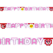 """86"""" Disney Minnie Mouse Polka Dots Red Party Happy Birthday Letter Banner"""