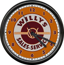 Willys Jeep Sales Parts Service Dealer Auto Car Sign Wall Clock