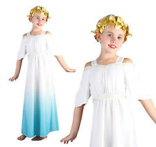 Childrens Roman Goddess Fancy Dress Costume Girls Greek Toda Outfit L