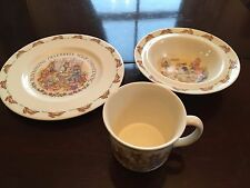 Royal Doulton Bunnykins vintage cup,bowl and plate