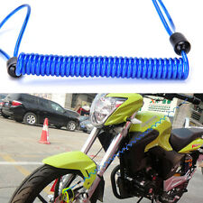 Motorcycle Bike Scooter Alarm Disc Lock Security Spring Reminder Cable Blue WB