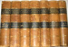 LEATHER Set;ENCYCLOPEDIA BIOGRAPHY! Antique library britannica DNB research