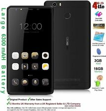 "Leagoo Shark 1 6"" Android Smartphone Mobile Dual SIM Octa Core 3GB RAM 4G LTE UK"