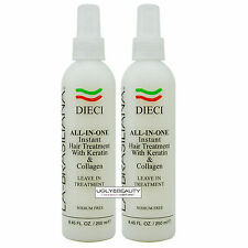 La-Brasiliana DIECI All-In-One Leave In Treatment 8.45 Fl. Oz. Pack of 2