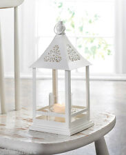 "white 12"" floral gazebo Candle holder Lantern Lamp outdoor patio terrace wedding"