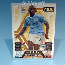 Match Attax Extra 13-14: Yaya TOURE * GOLD * Limited Edition. Man City. 2014 NEW