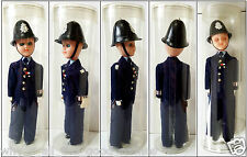 Vintage English London Bobby POLICEMAN Toy DOLL Figure in Clear Plastic Tube