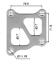 PERMASEAL TURBO INLET GASKET for EVO IV CN9A 4G63 EVO V CP9A EVO VII CT9A 96-01