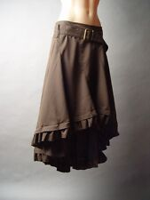 Steampunk Western Prairie Victorian Equestrian Brown Belt Petticoat Skirt S