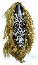 AFRICAN STYLE HAIR MASK TRIBAL WALL ART TRADITIONAL DANCE TIKI BAR HAND CARVED