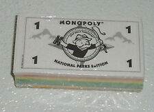 Monopoly Money For National Parks Game NEW Sealed