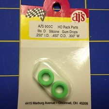 AJ's 900C Silicone Green Gum Drop Tires Tyco 440 Marchon MR-1 Lifelike Rokar