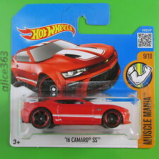 HOT WHEELS 2016 -  ´16 Camaro SS rot  -  Muscle Mania -  129  - neu in OVP