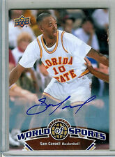 SAM CASSELL Florida State 2010 Upper Deck World of Sports Autograph #59 SP AUTO