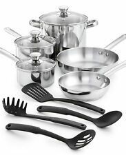 Tools of the Trade Stainless Steel 12-Pc. Cookware Set, NEW
