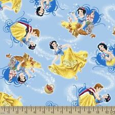 """Disney Snow White and Friends Toss 100% cotton 43"""" wide fabric by the yard (36"""")"""