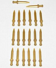 LEGO LOT OF 20 NEW PEARL GOLD ROMAN GLADIUS SWORDS MINIFIGURE CASTLE WEAPONS