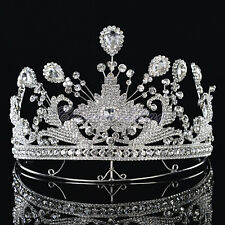 Royal Rhinestone Tiara Crowns Wedding Pageant Princess Headband Hair Accessory